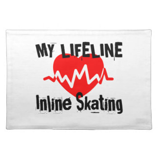 My Life Line Inline Skating Sports Designs Placemat