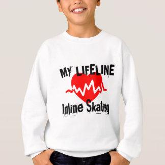 My Life Line Inline Skating Sports Designs Sweatshirt