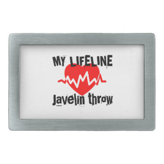 My Life Line Javelin throw Sports Designs Belt Buckle