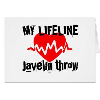 My Life Line Javelin throw Sports Designs Card