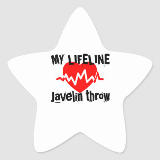 My Life Line Javelin throw Sports Designs Star Sticker