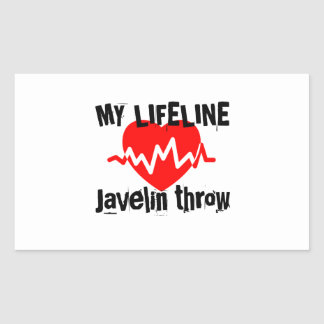 My Life Line Javelin throw Sports Designs Sticker