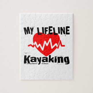 My Life Line Kayaking Sports Designs Jigsaw Puzzle
