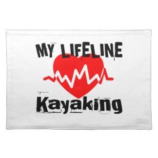 My Life Line Kayaking Sports Designs Placemat