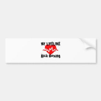 My Life Line Kick Boxing Sports Designs Bumper Sticker