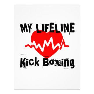 My Life Line Kick Boxing Sports Designs Letterhead