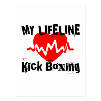My Life Line Kick Boxing Sports Designs Postcard