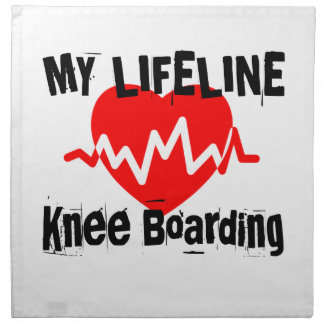 My Life Line Knee Boarding Sports Designs Napkin