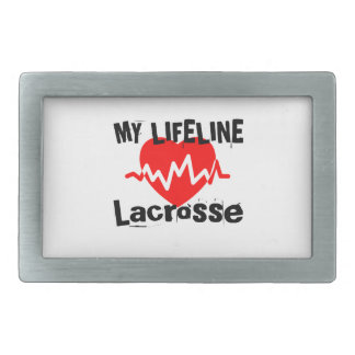 My Life Line Lacrosse Sports Designs Belt Buckles