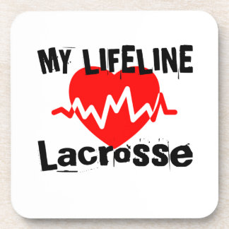My Life Line Lacrosse Sports Designs Coaster