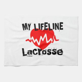 My Life Line Lacrosse Sports Designs Kitchen Towel