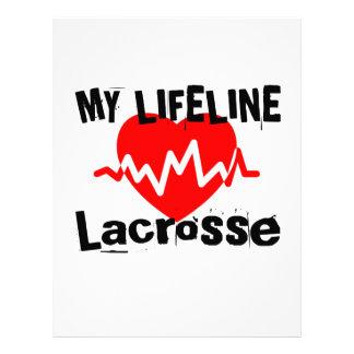 My Life Line Lacrosse Sports Designs Letterhead