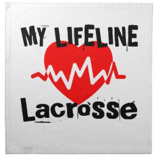 My Life Line Lacrosse Sports Designs Napkin