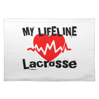 My Life Line Lacrosse Sports Designs Placemat