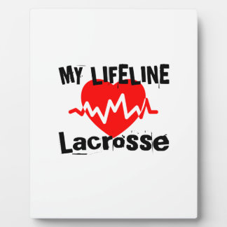 My Life Line Lacrosse Sports Designs Plaque