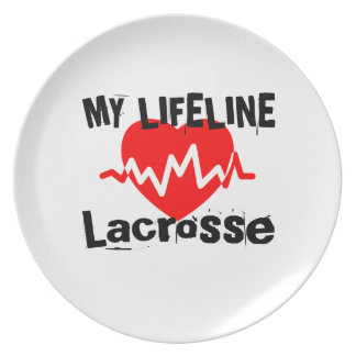 My Life Line Lacrosse Sports Designs Plate