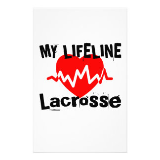 My Life Line Lacrosse Sports Designs Stationery
