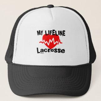 My Life Line Lacrosse Sports Designs Trucker Hat