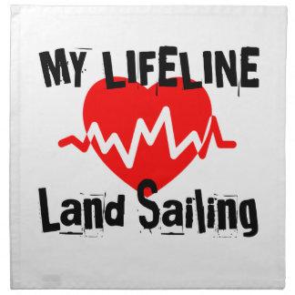 My Life Line Land Sailing Sports Designs Napkin