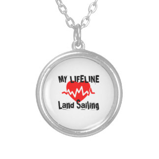 My Life Line Land Sailing Sports Designs Silver Plated Necklace