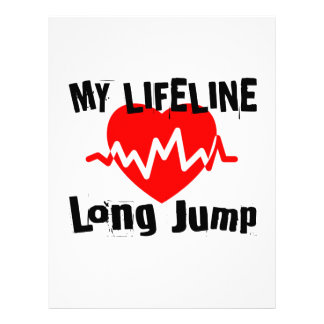 My Life Line Long Jump Sports Designs Letterhead