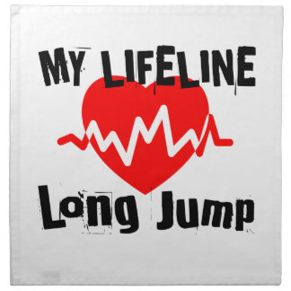 My Life Line Long Jump Sports Designs Napkin