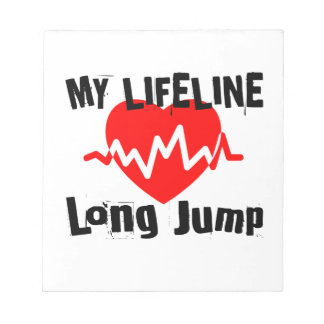 My Life Line Long Jump Sports Designs Notepad