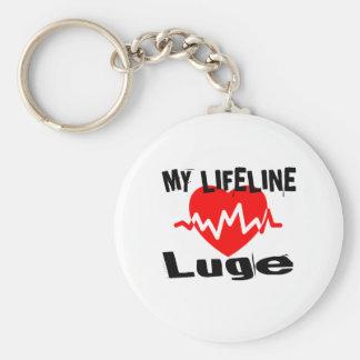 My Life Line Luge Sports Designs Keychain