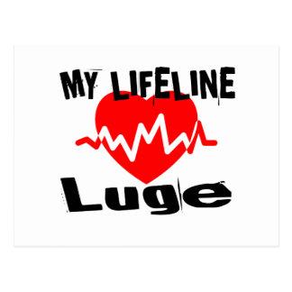 My Life Line Luge Sports Designs Postcard