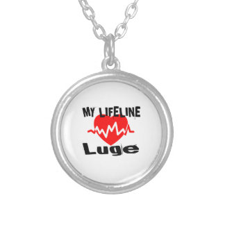 My Life Line Luge Sports Designs Silver Plated Necklace