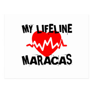 MY LIFE LINE MARACAS MUSIC DESIGNS POSTCARD