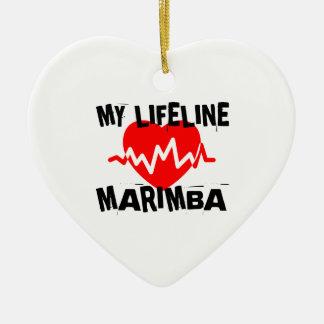 MY LIFE LINE MARIMBA MUSIC DESIGNS CERAMIC ORNAMENT