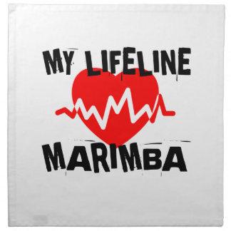 MY LIFE LINE MARIMBA MUSIC DESIGNS NAPKIN