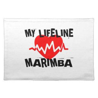 MY LIFE LINE MARIMBA MUSIC DESIGNS PLACEMAT