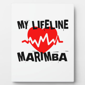 MY LIFE LINE MARIMBA MUSIC DESIGNS PLAQUE