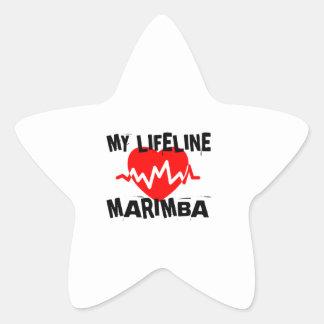 MY LIFE LINE MARIMBA MUSIC DESIGNS STAR STICKER