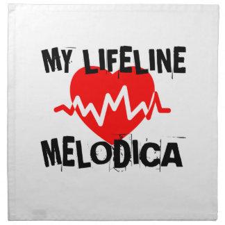 MY LIFE LINE MELODICA MUSIC DESIGNS NAPKIN
