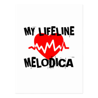 MY LIFE LINE MELODICA MUSIC DESIGNS POSTCARD