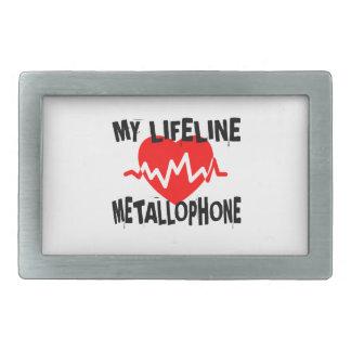 MY LIFE LINE METALLOPHONE MUSIC DESIGNS RECTANGULAR BELT BUCKLE