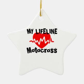 My Life Line Motocross Sports Designs Ceramic Ornament