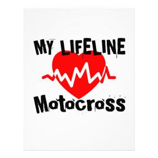 My Life Line Motocross Sports Designs Letterhead