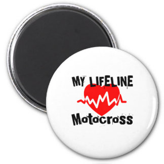 My Life Line Motocross Sports Designs Magnet