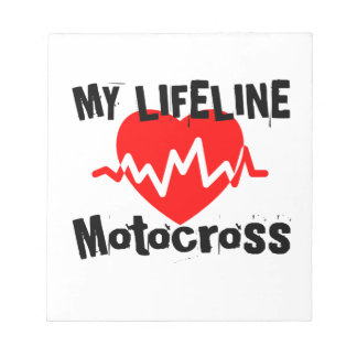 My Life Line Motocross Sports Designs Notepad