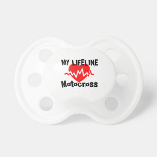 My Life Line Motocross Sports Designs Pacifier