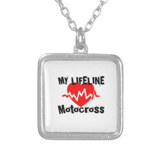 My Life Line Motocross Sports Designs Silver Plated Necklace