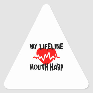 MY LIFE LINE MOUTH HARP MUSIC DESIGNS TRIANGLE STICKER