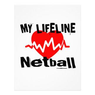 My Life Line Netball Sports Designs Letterhead