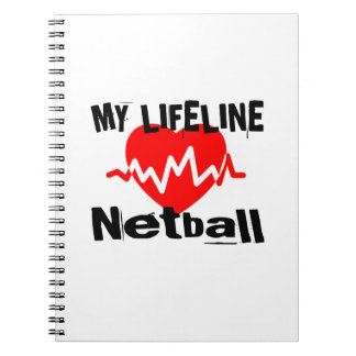 My Life Line Netball Sports Designs Notebook