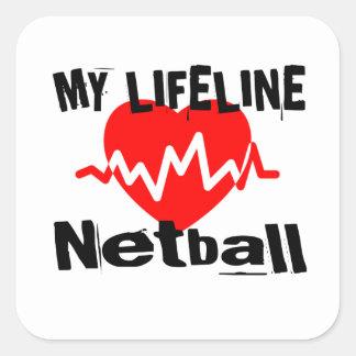 My Life Line Netball Sports Designs Square Sticker