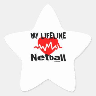 My Life Line Netball Sports Designs Star Sticker